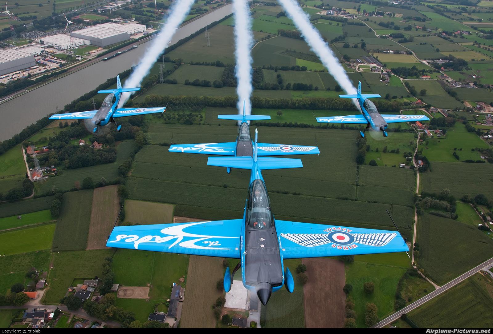 "2 Excel Aviation ""The Blades Aerobatic Team"" G-ZEXL aircraft at In Flight - Belgium"