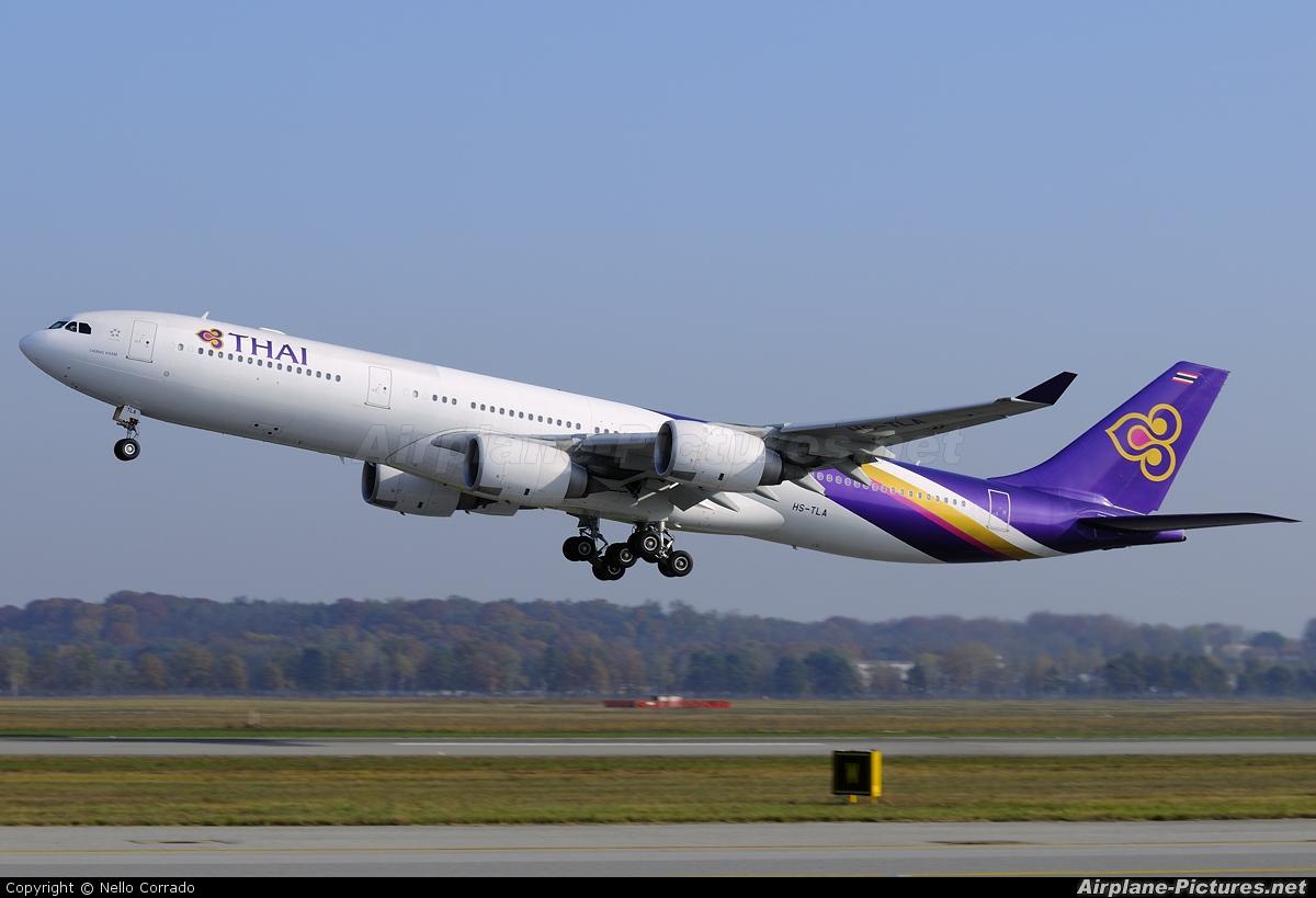 Thai Airways HS-TLA aircraft at Milan - Malpensa
