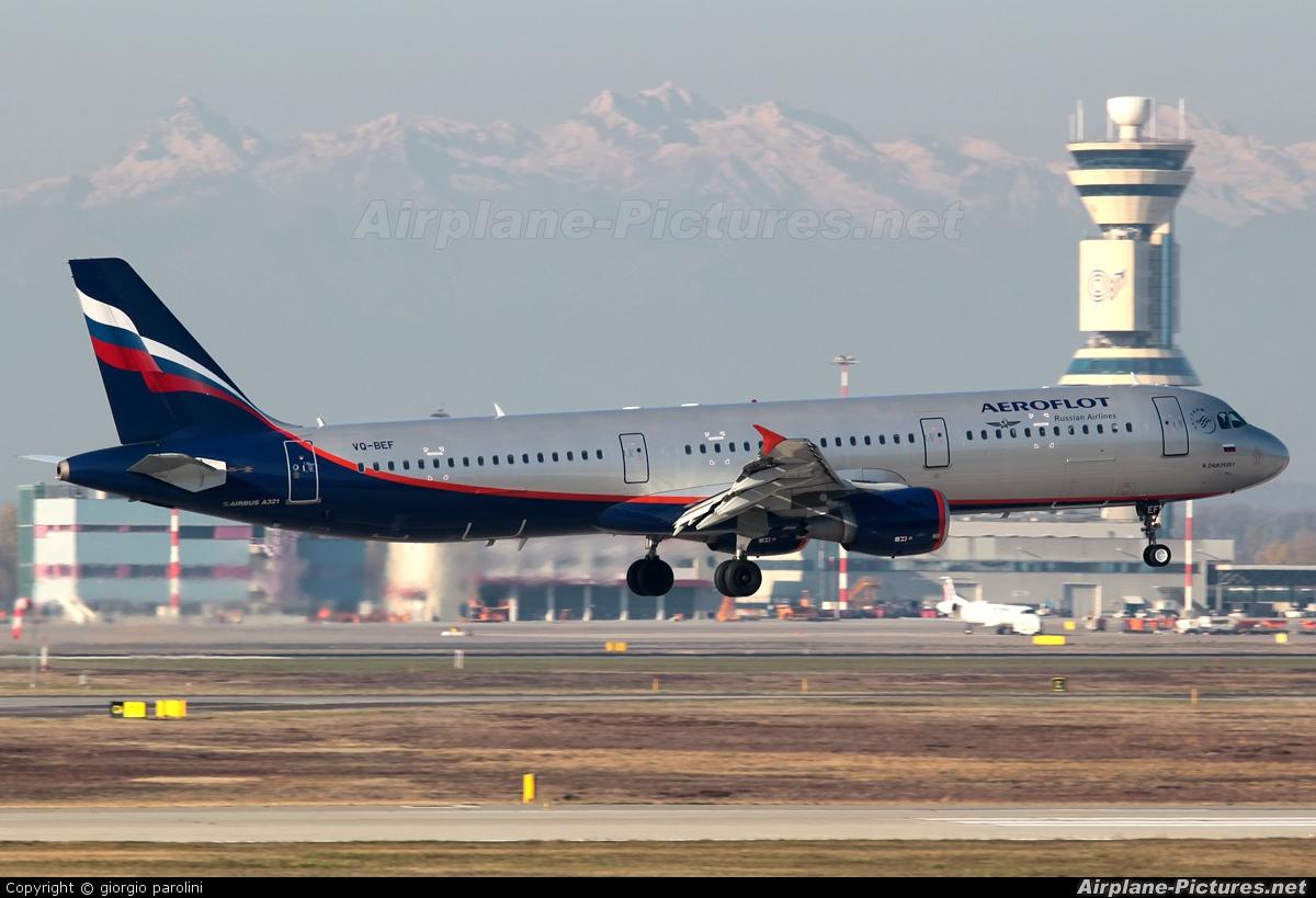 Aeroflot VQ-BEF aircraft at Milan - Malpensa