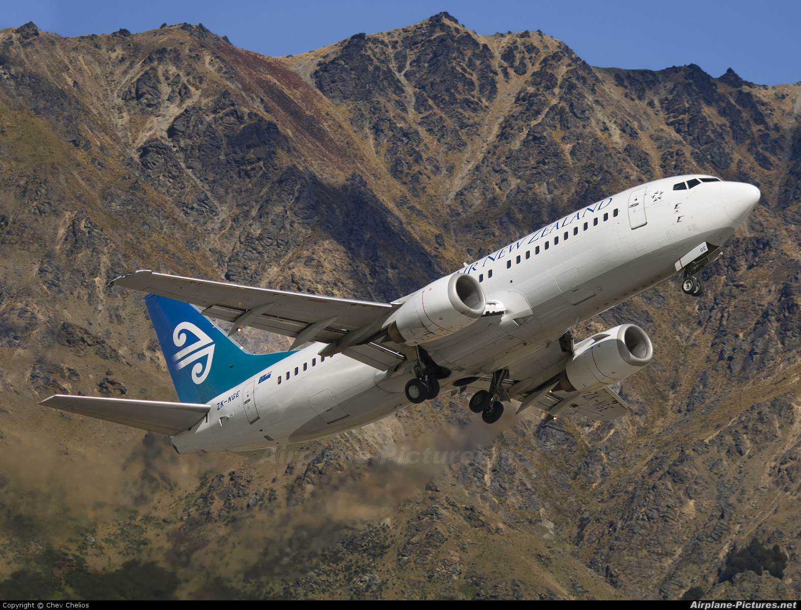 Air New Zealand ZK-NGE aircraft at Queenstown - Frankton