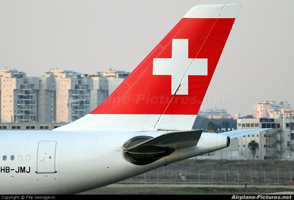Swiss HB-JMJ aircraft at Tel Aviv - Ben Gurion