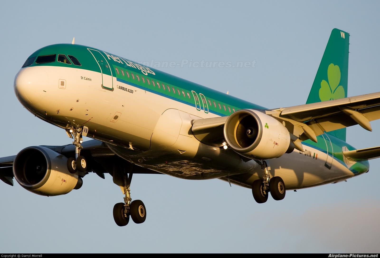 Aer Lingus EI-DVN aircraft at London - Heathrow