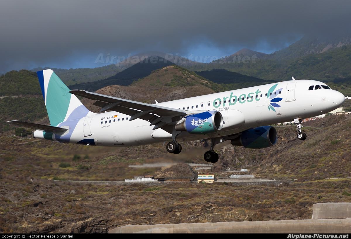 Orbest EC-LLX aircraft at Santa Cruz de La Palma