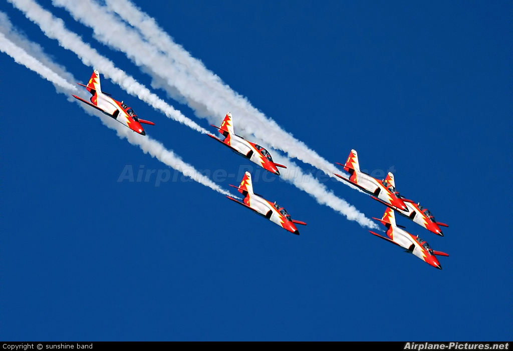 Spain - Air Force : Patrulla Aguila E.25-14 aircraft at Waddington