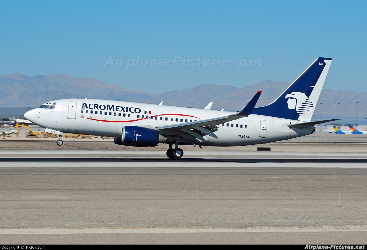 Aeromexico N126AM aircraft at Las Vegas - McCarran Intl