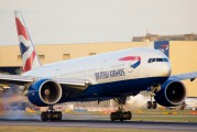 G-ZZZC - British Airways Boeing 777-200 aircraft