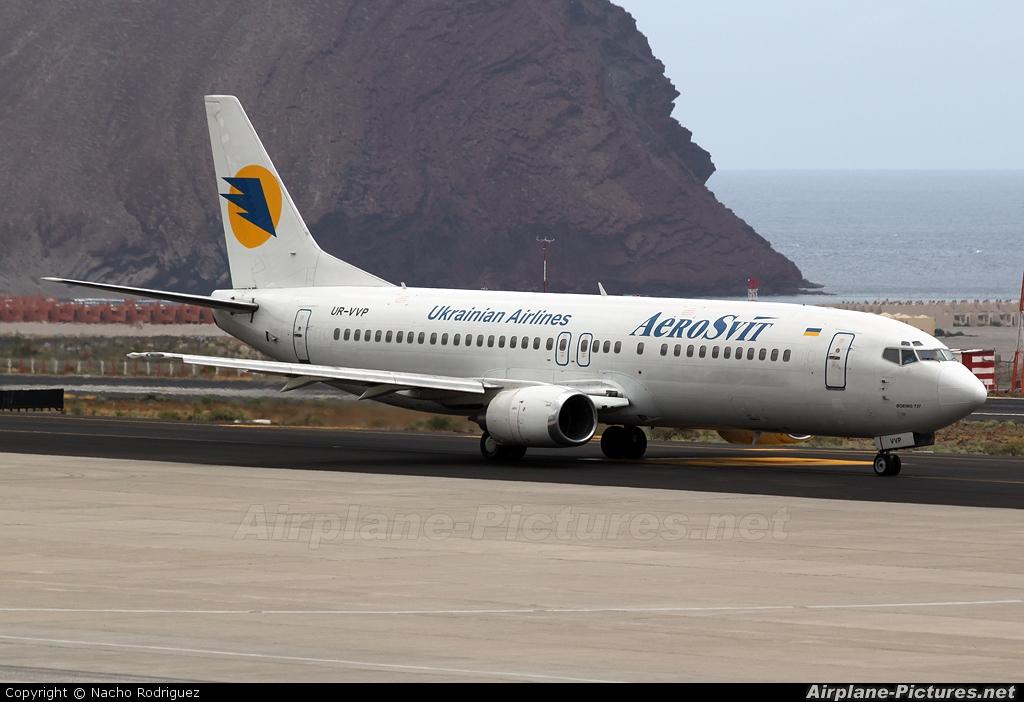 Aerosvit - Ukrainian Airlines UR-VVP aircraft at Tenerife Sur - Reina Sofia