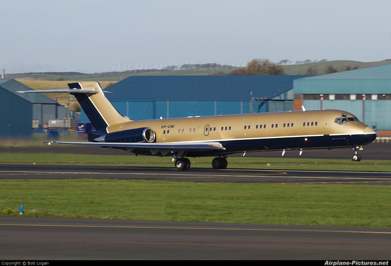 Private VP-CNI aircraft at Prestwick