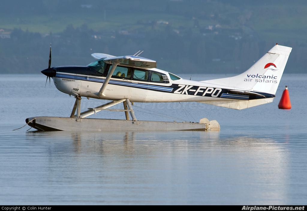Volcanic Air Safaris ZK-FPO aircraft at Lake Rotorua