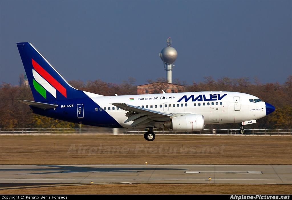 Malev HA-LOE aircraft at Budapest - Ferihegy