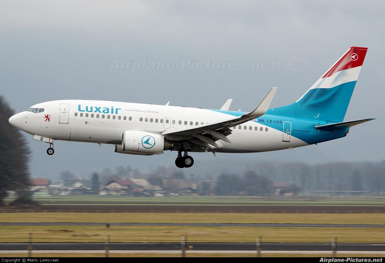 Luxair LX-LGQ aircraft at Ljubljana - Brnik
