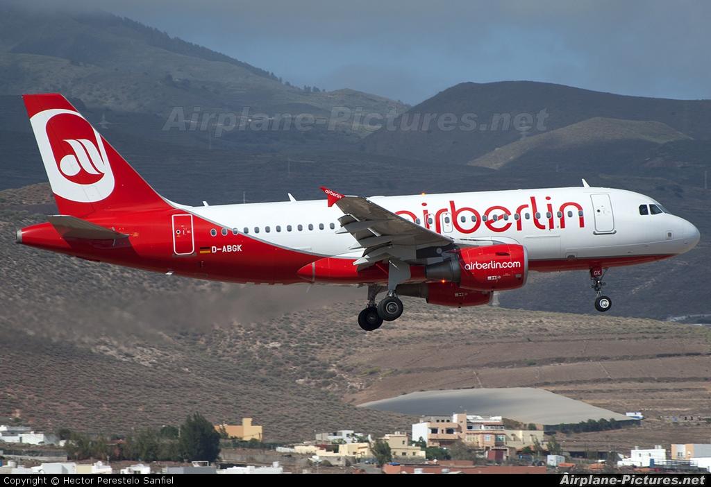 Air Berlin D-ABGK aircraft at Las Palmas de Gran Canaria