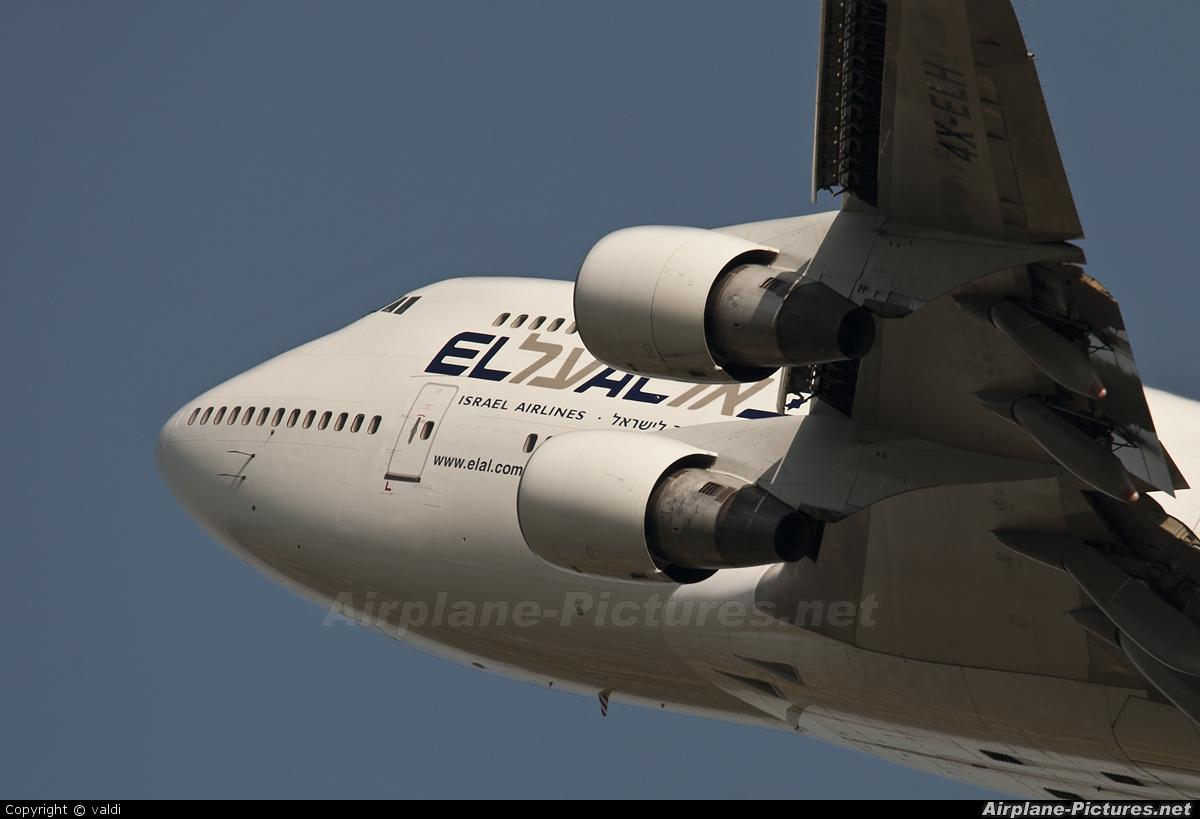 El Al Israel Airlines 4X-ELH aircraft at Kraków - John Paul II Intl