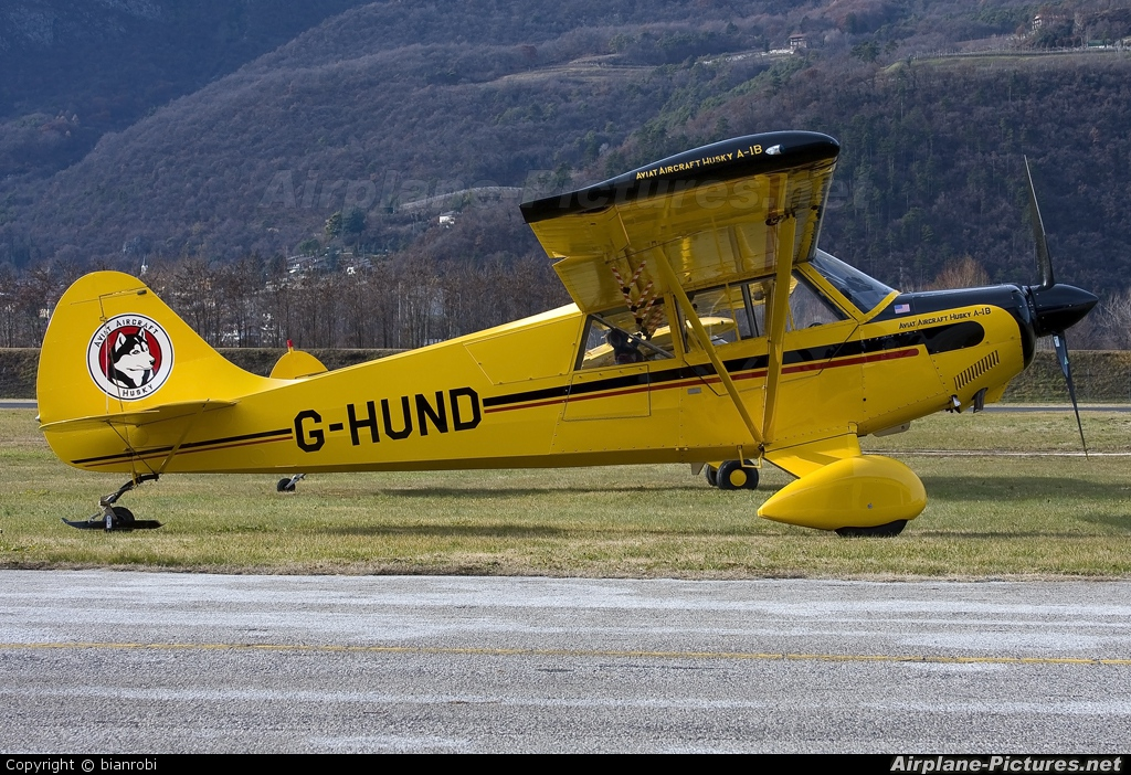 Private G-HUND aircraft at Trento - Mattarello
