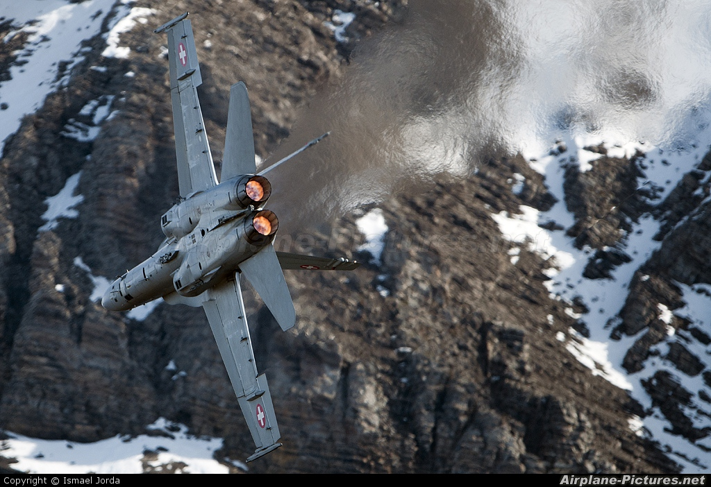 Switzerland - Air Force J-5024 aircraft at Axalp - Ebenfluh Range