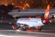 N624VA - Virgin America Airbus A320 aircraft