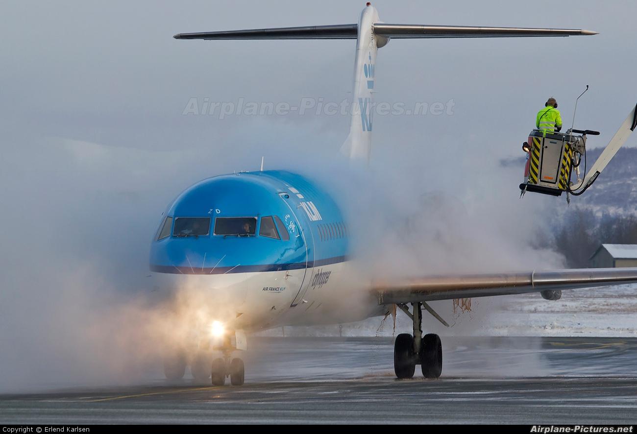 KLM Cityhopper PH-KZD aircraft at Trondheim - Vaernes