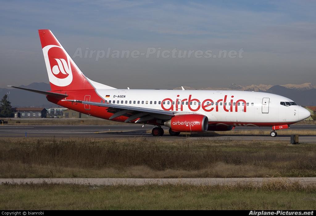 Air Berlin D-AGEN aircraft at Verona - Villafranca