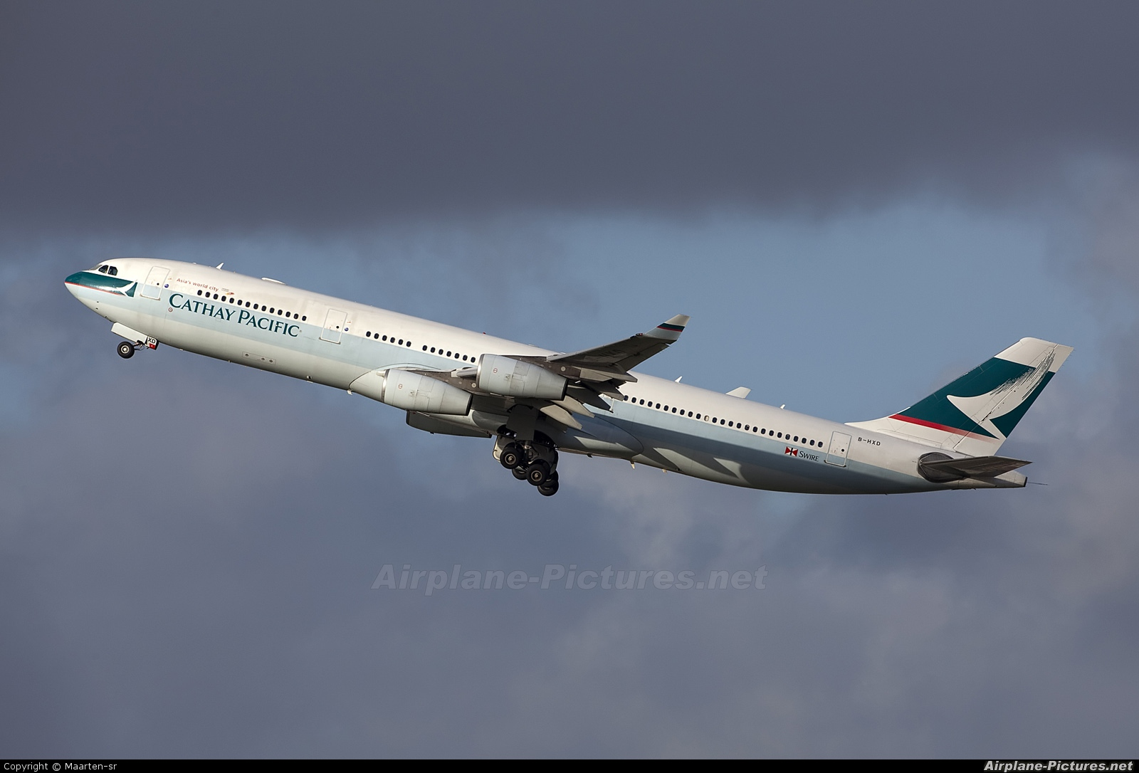 Cathay Pacific B-HXD aircraft at Amsterdam - Schiphol