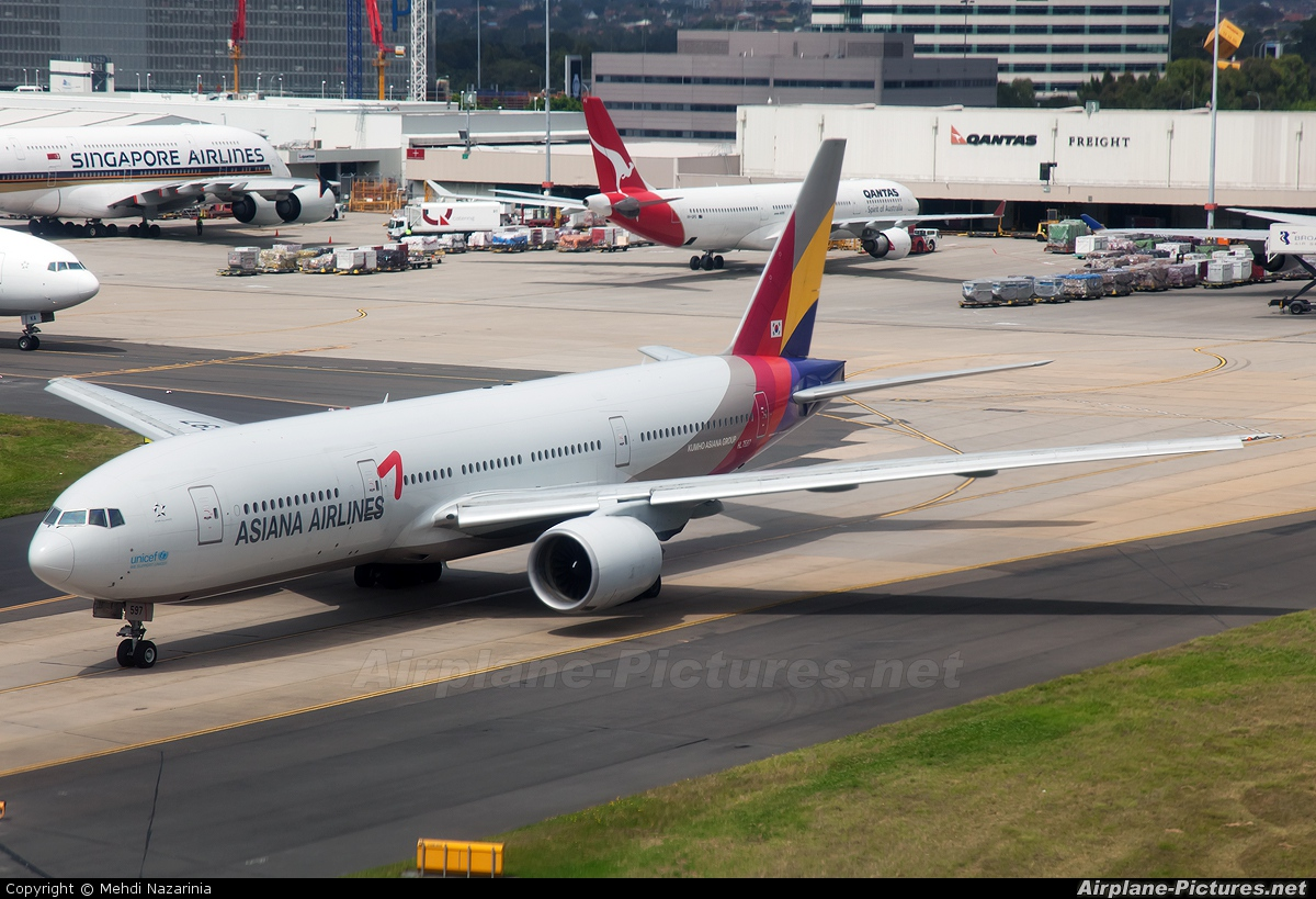 Asiana Airlines HL7597 aircraft at Sydney - Kingsford Smith Intl, NSW