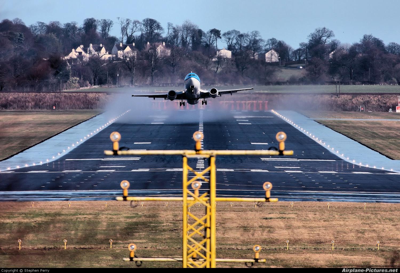 KLM PH-BDO aircraft at Edinburgh