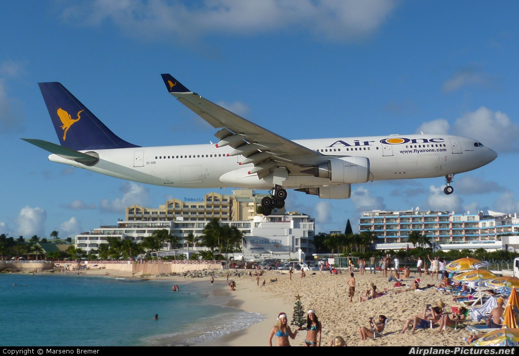 Air One EI-DIR aircraft at Sint Maarten - Princess Juliana Intl
