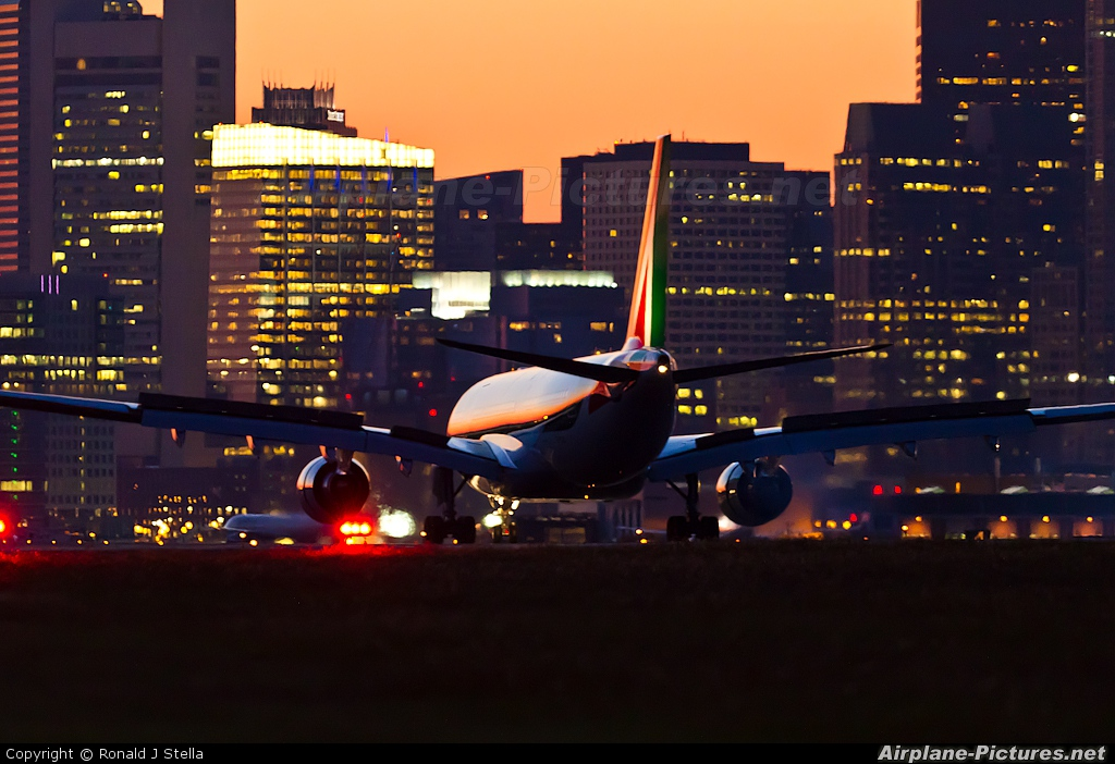 Alitalia EI-EJK aircraft at Boston - General Edward Lawrence Logan Intl