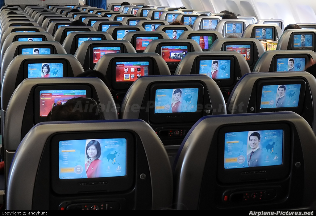 Cathay Pacific B-HXG aircraft at In Flight - International