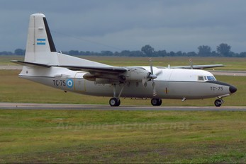 TC-75 - Argentina - Air Force Fokker F27-400M Troopship