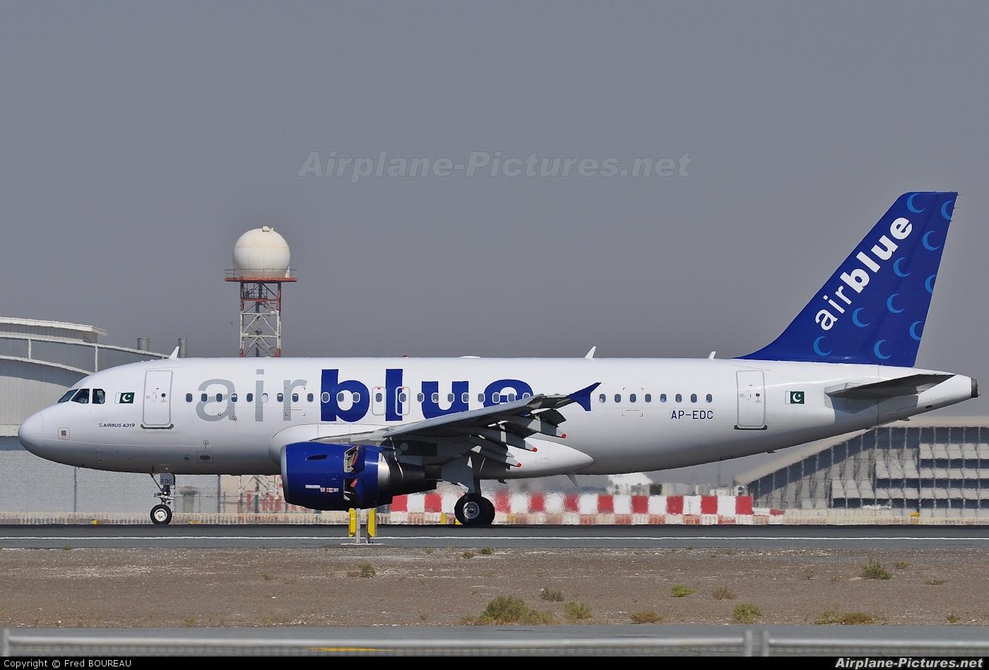 Air Blue AP-EDC aircraft at Dubai Intl