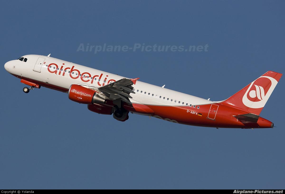 Air Berlin D-ABFK aircraft at Barcelona - El Prat