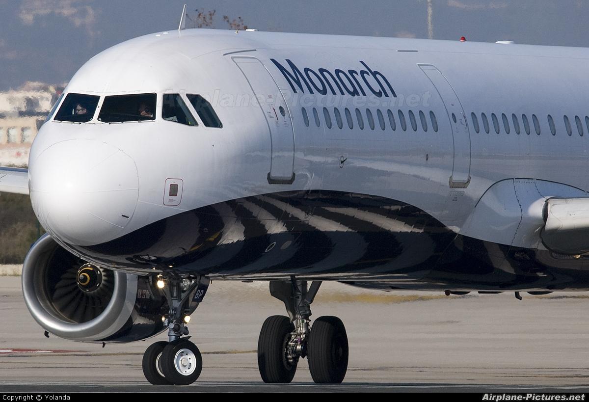 Monarch Airlines G-OZBP aircraft at Barcelona - El Prat
