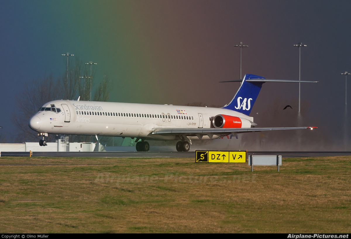SAS - Scandinavian Airlines LN-RMM aircraft at Manchester