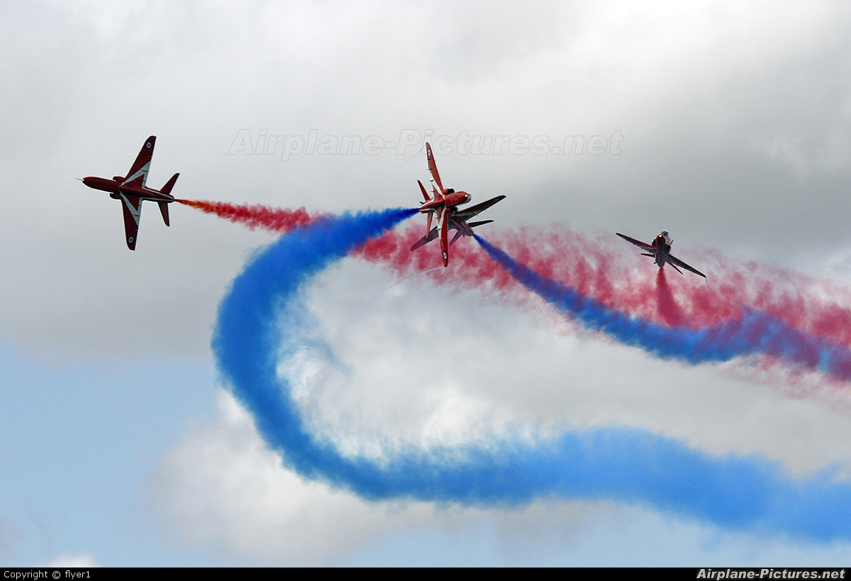 "Royal Air Force ""Red Arrows"" XX177 aircraft at Fairford"