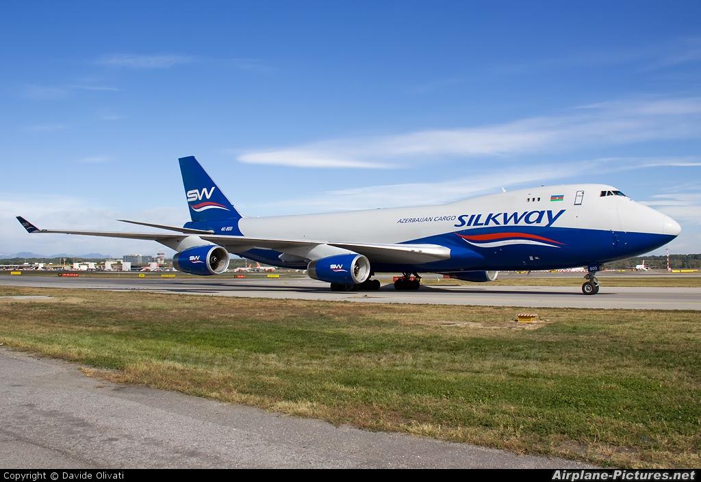 Silk Way Airlines 4K-800 aircraft at Milan - Malpensa