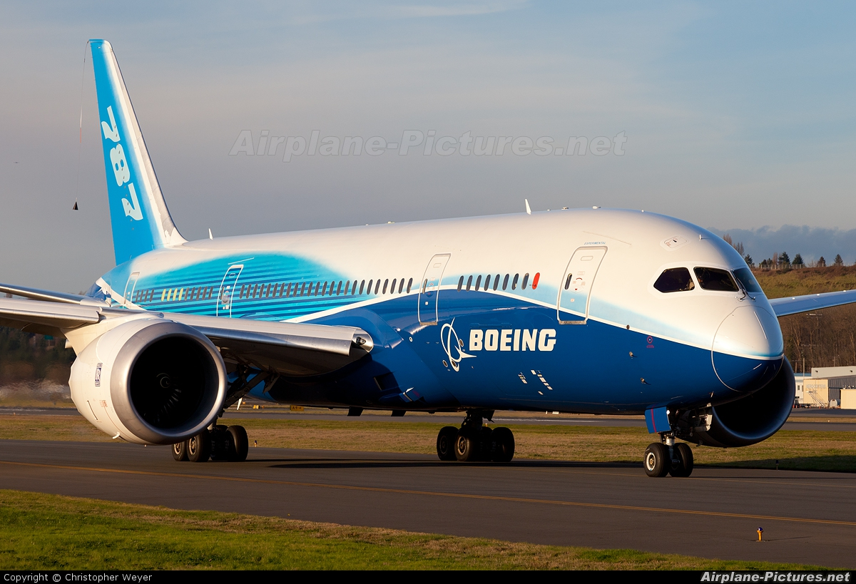 Boeing Company N787BA aircraft at Seattle - Boeing Field / King County Intl