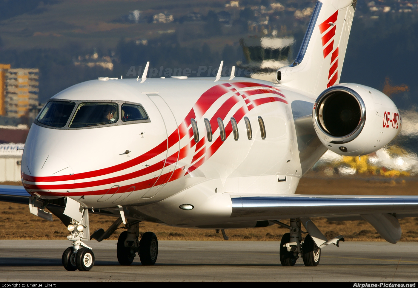 International Jet Management OE-HPZ aircraft at Innsbruck