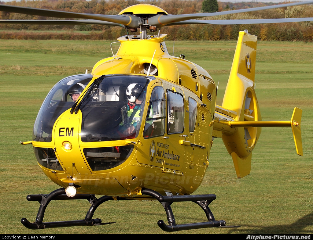 North West Air Ambulance G-NWEM aircraft at Manchester - Barton