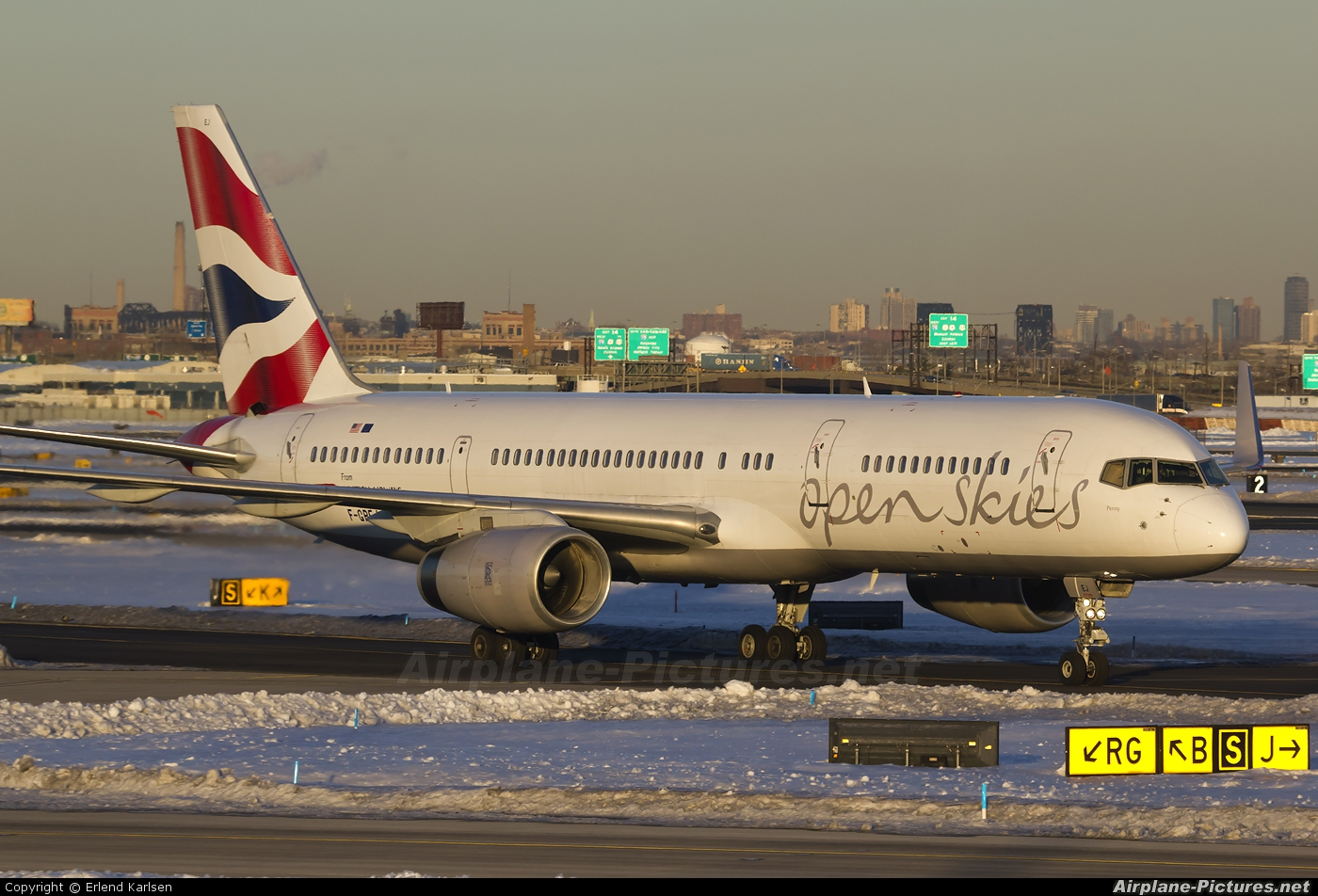 British Airways - Open Skies F-GPEJ aircraft at Newark Liberty Intl