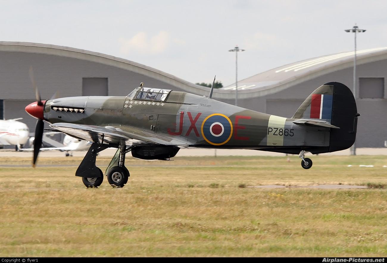 "Royal Air Force ""Battle of Britain Memorial Flight"" PZ865 aircraft at Farnborough"
