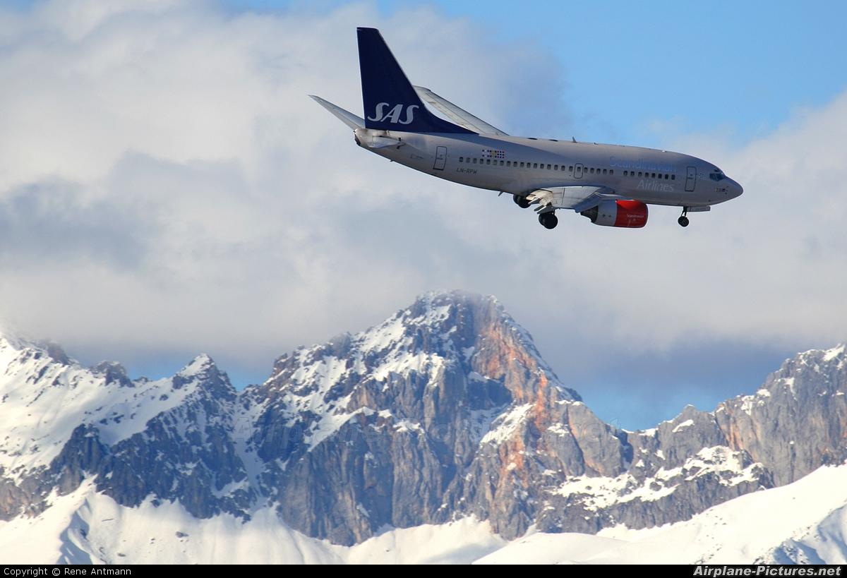 SAS - Scandinavian Airlines LN-RPW aircraft at Innsbruck