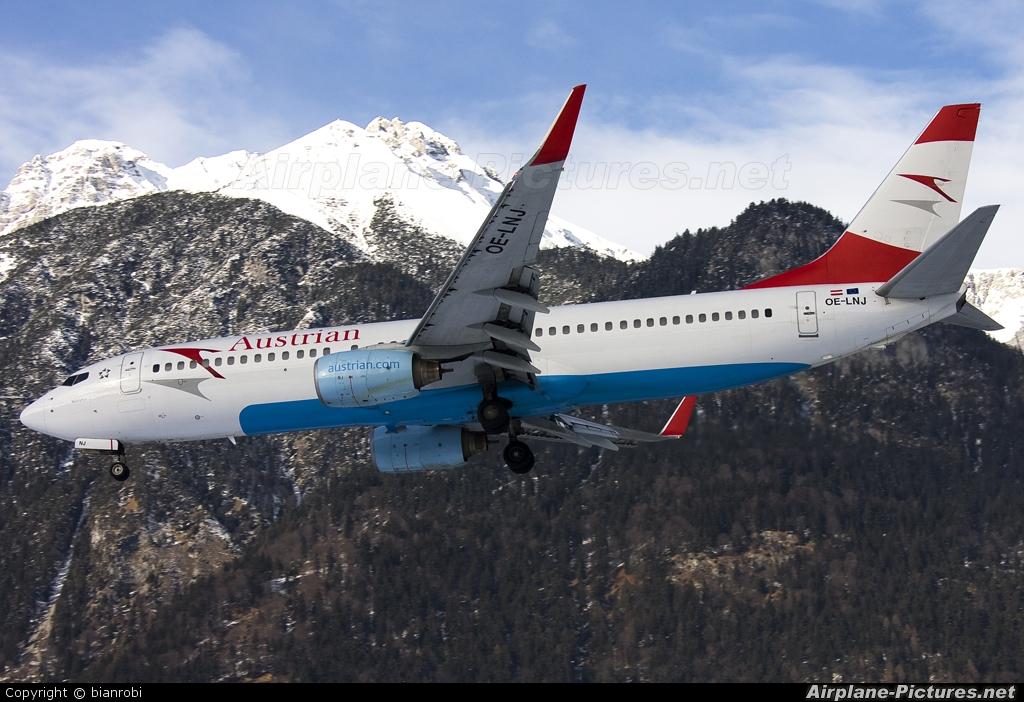 Austrian Airlines/Arrows/Tyrolean OE-LNJ aircraft at Innsbruck