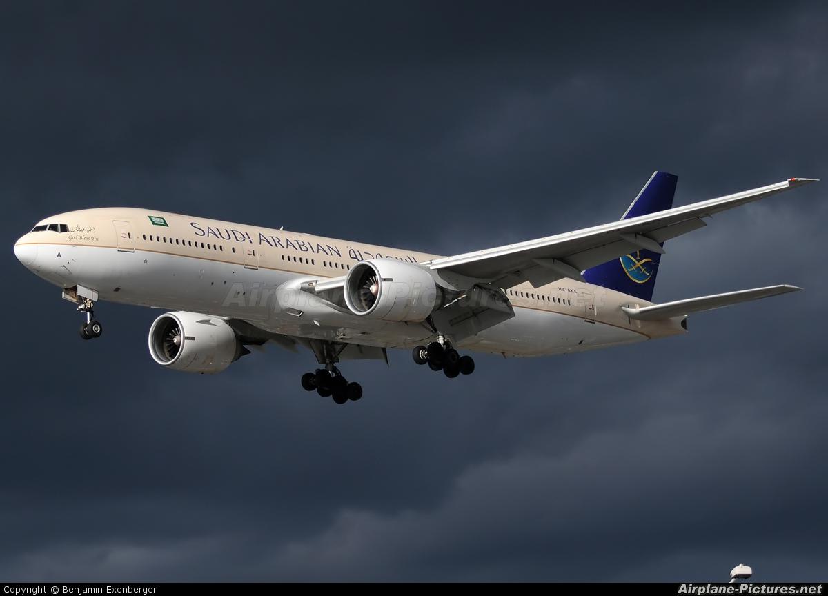Saudi Arabian Airlines HZ-AKA aircraft at London - Heathrow