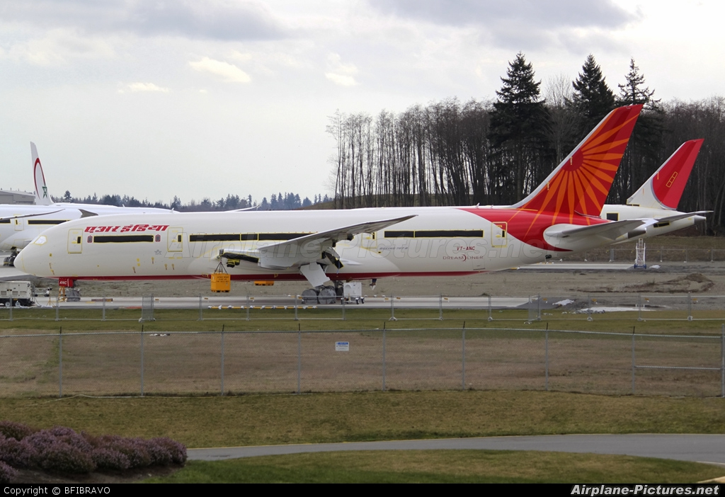 Air India VT-ANC aircraft at Everett - Snohomish County / Paine Field