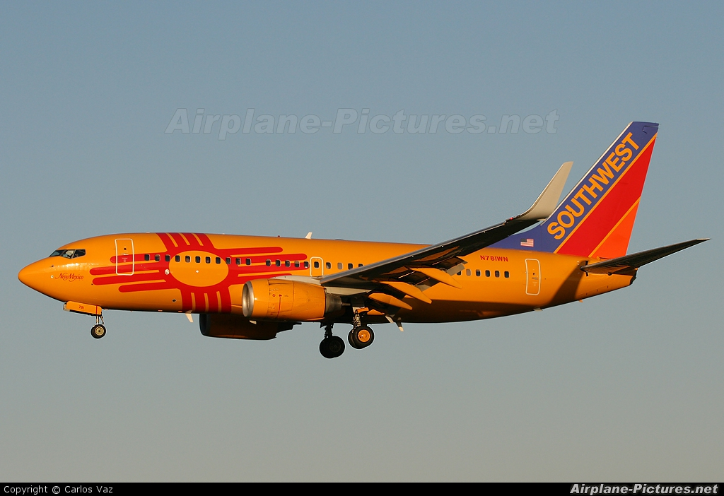 """Southwest Airlines N781WN aircraft at Baltimore / Washington """"Friendship"""" Intl"""
