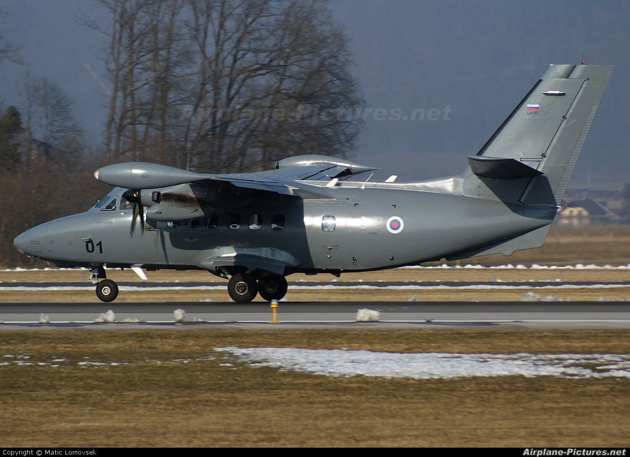 Slovenia - Air Force L4-01 aircraft at Ljubljana - Brnik