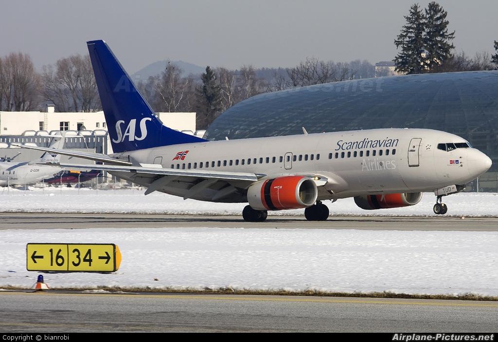 SAS - Scandinavian Airlines LN-TUD aircraft at Salzburg