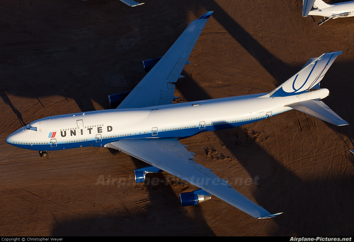 United Airlines N196UA aircraft at Victorville - Southern California Logistics