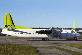 YL-BAW - Air Baltic Fokker 50