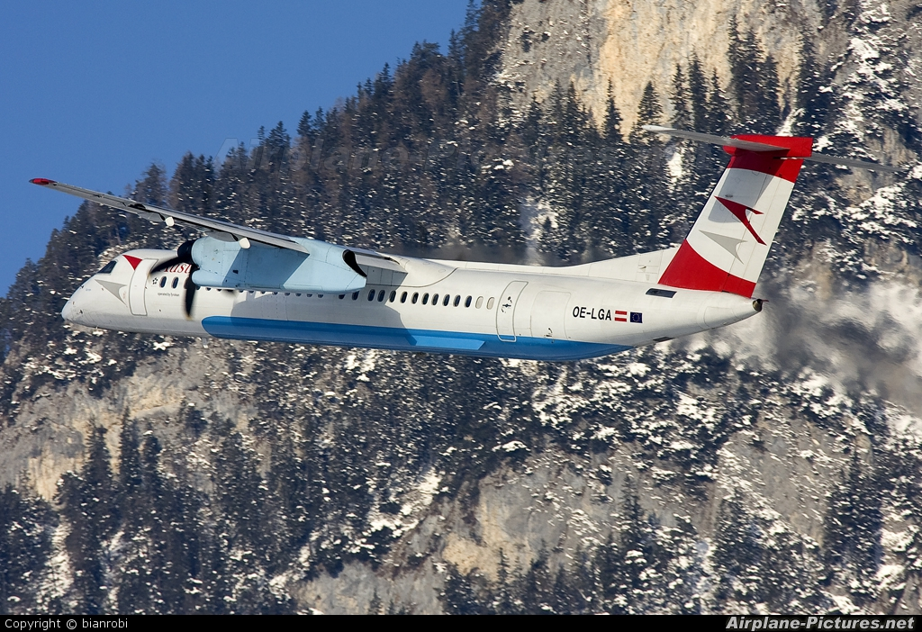 Austrian Airlines/Arrows/Tyrolean OE-LGA aircraft at Innsbruck